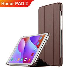 Huawei Honor Pad 2用手帳型 レザーケース スタンド L03 ファーウェイ ブラウン