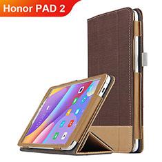 Huawei Honor Pad 2用手帳型 レザーケース スタンド L05 ファーウェイ ブラウン
