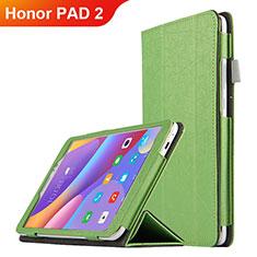 Huawei Honor Pad 2用手帳型 レザーケース スタンド L04 ファーウェイ グリーン