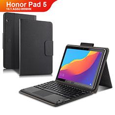 Huawei Honor Pad 5 10.1 AGS2-W09HN AGS2-AL00HN用手帳型 レザーケース スタンド アンド キーボード ファーウェイ ブラック
