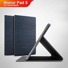 Huawei Honor Pad 5 10.1 AGS2-W09HN AGS2-AL00HN用手帳型 レザーケース スタンド カバー ファーウェイ ネイビー