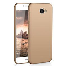 Huawei Honor Play 5用ハードケース プラスチック 質感もマット M01 ファーウェイ ゴールド