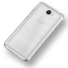 Huawei Honor Play 5用極薄ソフトケース シリコンケース 耐衝撃 全面保護 クリア透明 カバー ファーウェイ クリア