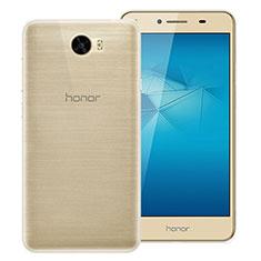 Huawei Honor Play 5用極薄ソフトケース シリコンケース 耐衝撃 全面保護 クリア透明 T02 ファーウェイ クリア