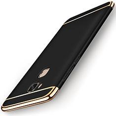 Huawei Honor Play 5X用ケース 高級感 手触り良い メタル兼プラスチック バンパー M01 ファーウェイ ブラック