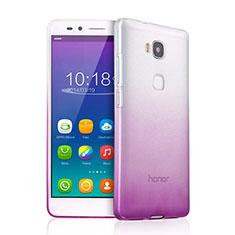 Huawei Honor Play 5X用極薄ソフトケース グラデーション 勾配色 クリア透明 ファーウェイ パープル