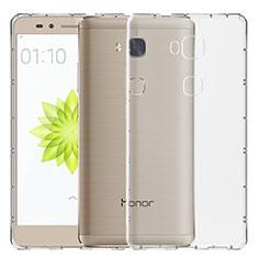 Huawei Honor Play 5X用極薄ソフトケース シリコンケース 耐衝撃 全面保護 クリア透明 T02 ファーウェイ クリア