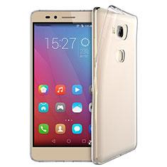 Huawei Honor Play 5X用極薄ソフトケース シリコンケース 耐衝撃 全面保護 クリア透明 T03 ファーウェイ クリア