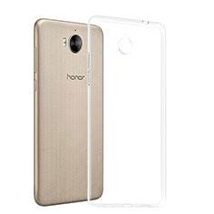 Huawei Honor Play 6用極薄ソフトケース シリコンケース 耐衝撃 全面保護 クリア透明 T03 ファーウェイ クリア