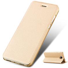 Huawei Honor Play 6用手帳型 レザーケース スタンド ファーウェイ ゴールド