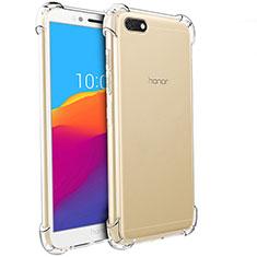 Huawei Honor Play 7用極薄ソフトケース シリコンケース 耐衝撃 全面保護 クリア透明 T04 ファーウェイ クリア