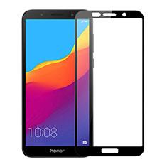 Huawei Honor Play 7用強化ガラス フル液晶保護フィルム ファーウェイ ブラック