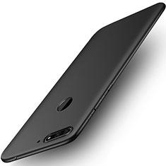 Huawei Honor Play 7A用極薄ソフトケース シリコンケース 耐衝撃 全面保護 ファーウェイ ブラック