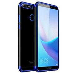 Huawei Honor Play 7A用極薄ソフトケース シリコンケース 耐衝撃 全面保護 クリア透明 カバー ファーウェイ ネイビー