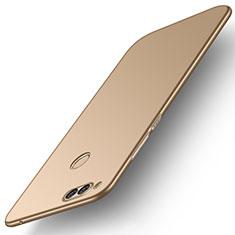 Huawei Honor Play 7X用ハードケース プラスチック 質感もマット M01 ファーウェイ ゴールド