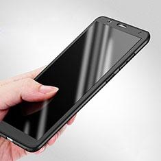 Huawei Honor Play 7X用ハードケース プラスチック 質感もマット 前面と背面 360度 フルカバー ファーウェイ ブラック