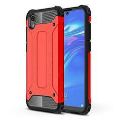 Huawei Honor Play 8用360度 フルカバー極薄ソフトケース シリコンケース 耐衝撃 全面保護 バンパー ファーウェイ レッド