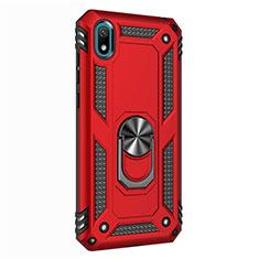 Huawei Honor Play 8用ハイブリットバンパーケース プラスチック アンド指輪 マグネット式 ファーウェイ レッド