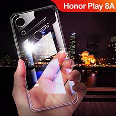 Huawei Honor Play 8A用極薄ソフトケース シリコンケース 耐衝撃 全面保護 クリア透明 T02 ファーウェイ クリア