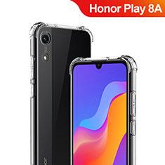 Huawei Honor Play 8A用極薄ソフトケース シリコンケース 耐衝撃 全面保護 クリア透明 T03 ファーウェイ クリア