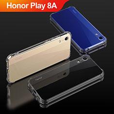 Huawei Honor Play 8A用極薄ソフトケース シリコンケース 耐衝撃 全面保護 クリア透明 T04 ファーウェイ クリア