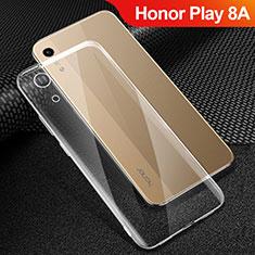 Huawei Honor Play 8A用極薄ソフトケース シリコンケース 耐衝撃 全面保護 クリア透明 T06 ファーウェイ クリア