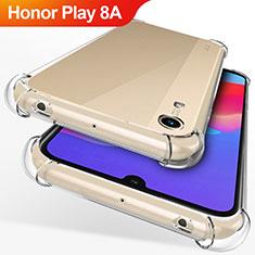 Huawei Honor Play 8A用極薄ソフトケース シリコンケース 耐衝撃 全面保護 クリア透明 T12 ファーウェイ クリア