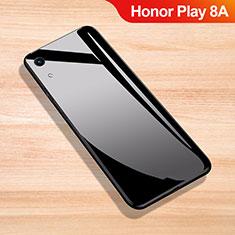 Huawei Honor Play 8A用ハイブリットバンパーケース プラスチック 鏡面 カバー ファーウェイ ブラック