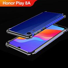 Huawei Honor Play 8A用極薄ソフトケース シリコンケース 耐衝撃 全面保護 クリア透明 H01 ファーウェイ ブラック
