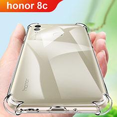 Huawei Honor Play 8C用極薄ソフトケース シリコンケース 耐衝撃 全面保護 クリア透明 カバー ファーウェイ クリア