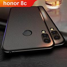 Huawei Honor Play 8C用極薄ソフトケース シリコンケース 耐衝撃 全面保護 ファーウェイ ブラック