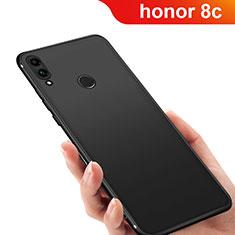 Huawei Honor Play 8C用極薄ソフトケース シリコンケース 耐衝撃 全面保護 Q03 ファーウェイ ブラック