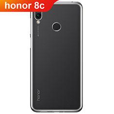 Huawei Honor Play 8C用極薄ソフトケース シリコンケース 耐衝撃 全面保護 クリア透明 T02 ファーウェイ クリア