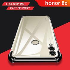Huawei Honor Play 8C用極薄ソフトケース シリコンケース 耐衝撃 全面保護 クリア透明 T03 ファーウェイ クリア