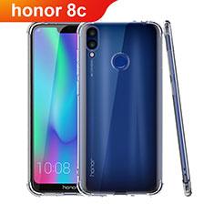Huawei Honor Play 8C用極薄ソフトケース シリコンケース 耐衝撃 全面保護 クリア透明 T04 ファーウェイ クリア