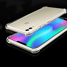Huawei Honor Play 8C用極薄ソフトケース シリコンケース 耐衝撃 全面保護 クリア透明 H01 ファーウェイ クリア