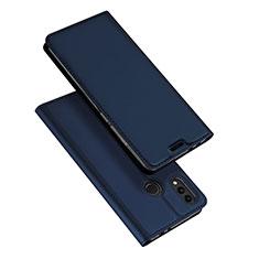 Huawei Honor Play 8C用手帳型 レザーケース スタンド カバー ファーウェイ ネイビー