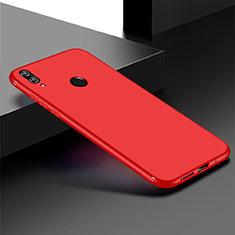 Huawei Honor Play 8C用極薄ソフトケース シリコンケース 耐衝撃 全面保護 S01 ファーウェイ レッド