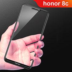 Huawei Honor Play 8C用強化ガラス フル液晶保護フィルム F02 ファーウェイ ブラック