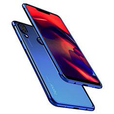 Huawei Honor Play用極薄ソフトケース シリコンケース 耐衝撃 全面保護 クリア透明 H01 ファーウェイ ネイビー