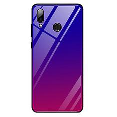 Huawei Honor Play用ハイブリットバンパーケース プラスチック 鏡面 虹 グラデーション 勾配色 カバー G01 ファーウェイ レッド