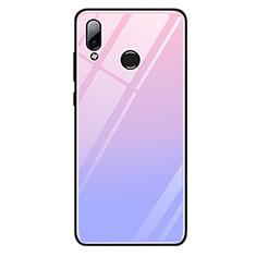 Huawei Honor Play用ハイブリットバンパーケース プラスチック 鏡面 虹 グラデーション 勾配色 カバー G01 ファーウェイ パープル