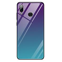 Huawei Honor Play用ハイブリットバンパーケース プラスチック 鏡面 虹 グラデーション 勾配色 カバー G01 ファーウェイ マルチカラー