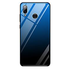 Huawei Honor Play用ハイブリットバンパーケース プラスチック 鏡面 虹 グラデーション 勾配色 カバー G01 ファーウェイ ネイビー・ブラック