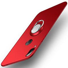 Huawei Honor Play用ハードケース プラスチック 質感もマット アンド指輪 A01 ファーウェイ レッド