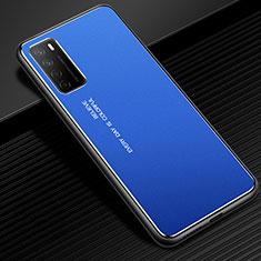 Huawei Honor Play4 5G用ケース 高級感 手触り良い アルミメタル 製の金属製 カバー ファーウェイ ネイビー