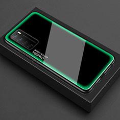 Huawei Honor Play4 5G用ハイブリットバンパーケース クリア透明 プラスチック 鏡面 カバー ファーウェイ グリーン