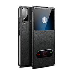 Huawei Honor Play4T用手帳型 レザーケース スタンド カバー L03 ファーウェイ ブラック