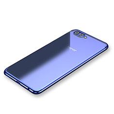 Huawei Honor V10用極薄ソフトケース シリコンケース 耐衝撃 全面保護 クリア透明 H03 ファーウェイ ネイビー