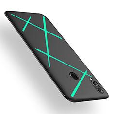 Huawei Honor V10 Lite用シリコンケース ソフトタッチラバー ツイル カバー T02 ファーウェイ グリーン